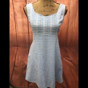 Vintage esprit dress blue/white floral 9/10